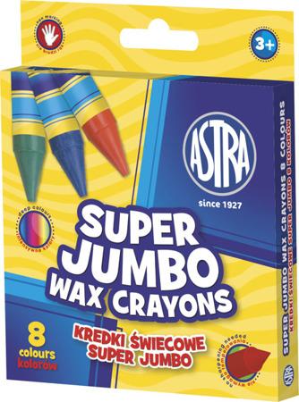 Kredki świecowe jumbo Astra 8 kolorów