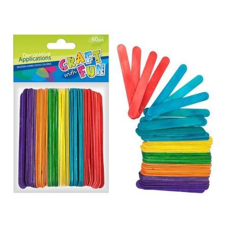 Patyczki kreatywne logopedyczne kolorowe 60szt. Craft With Fun