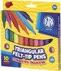 Flamastry 10 kolorów trójkątne jumbo Astra